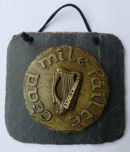 Cead Mile Failte Irish wall plaque